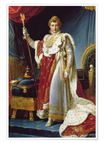 Poster Napoleon I in his coronation robe