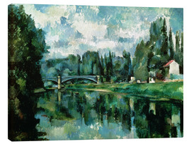 Toile  The Banks of the Marne at Creteil - Paul Cézanne