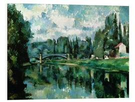 Tableau en PVC  Les Bords de la Marne - Paul Cézanne