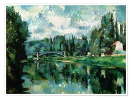 Poster  Les Bords de la Marne - Paul Cézanne