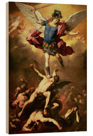 Bois  Archangel Michael overthrows the rebel angel - Luca Giordano