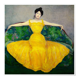 Poster  Lady in a Yellow Dress - Maximilian Kurzweil