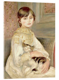 Verre acrylique  Julie Manet with Cat - Pierre-Auguste Renoir