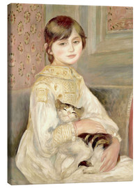 Toile  Julie Manet with Cat - Pierre-Auguste Renoir