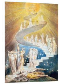 Tableau en PVC  L'échelle de Jacob - William Blake