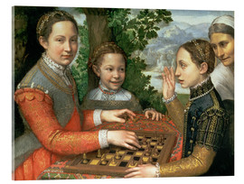 Tableau en verre acrylique  Game of Chess - Sofonisba Anguissola