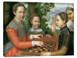 Tableau sur toile  Game of Chess - Sofonisba Anguissola