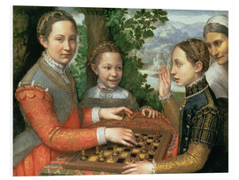 Tableau en PVC  Game of Chess - Sofonisba Anguissola