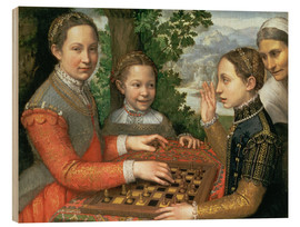 Tableau en bois  Game of Chess - Sofonisba Anguissola