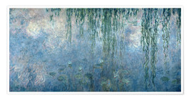 Claude Monet - Waterlilies: Morning with Weeping Willows