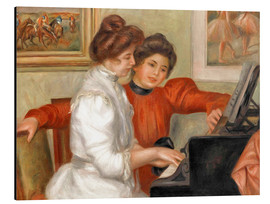 Alu-Dibond  Yvonne and Christine Lerolle at the piano - Pierre-Auguste Renoir