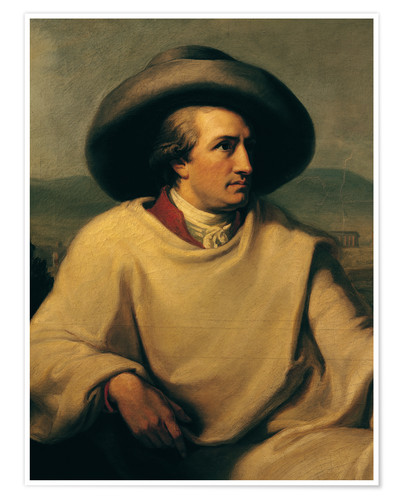 Poster Goethe in the Campagna (detail)