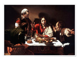 Poster  The Supper at Emmaus - Michelangelo Merisi (Caravaggio)