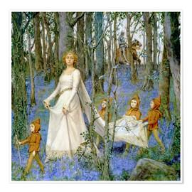Poster  The Fairy Wood - Henry Meynell Rheam