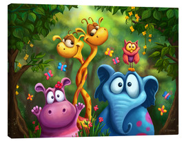 Toile  Animaux de la jungle - Tooshtoosh