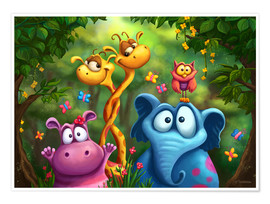 Poster  Animaux de la jungle - Tooshtoosh