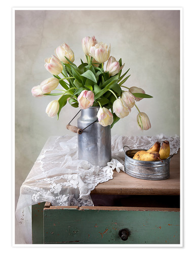 Poster Nature morte aux tulipes