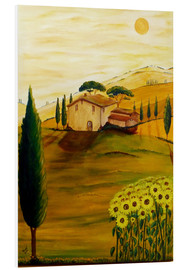 Tableau en PVC  Tournesols en Toscane - Christine Huwer
