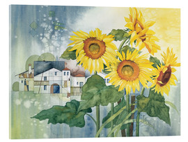 Tableau en verre acrylique  Rays of sun flowers - Franz Heigl