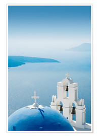 Poster  Church Santorini Greece - Mayday74