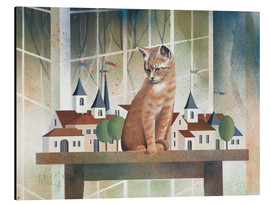 Tableau en aluminium  View of the cat - Franz Heigl