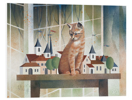 Tableau en PVC  Le regard du chat - Franz Heigl