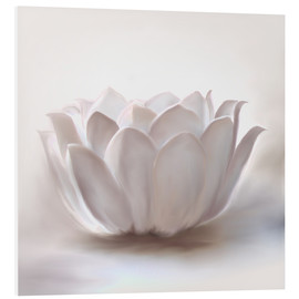Tableau en PVC  Lotus blanc - Christine Ganz