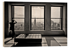 Tableau en bois  New York, Top of the Rock - Thomas Splietker