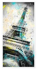 Poster City Art PARIS Eiffeltower IV