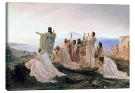 Tableau sur toile  Pythagoreans' Hymn to the Rising Sun - Fedor Andreevich Bronnikov