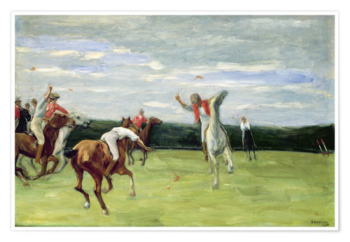 Poster Polo players in Jenischpark