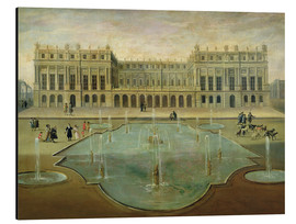 Tableau en aluminium  Chateau de Versailles from the Garden Side - French School