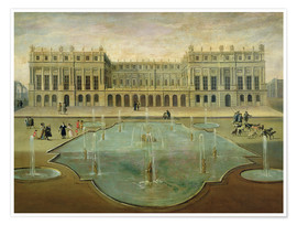 Poster  Chateau de Versailles from the Garden Side - French School
