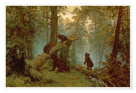 Poster  Morning in a Pine Forest - Ivan Ivanovich Shishkin