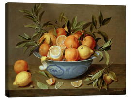 Toile  Still Life with Oranges and Lemons - Jacob van Hulsdonck