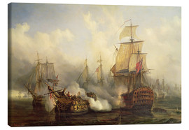 Toile  The Redoutable at Trafalgar - Auguste Etienne Francois Mayer