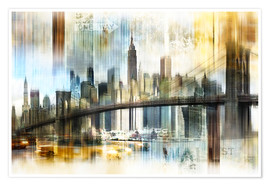 Poster Skyline New York Abstrakt Fraktal