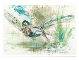 Poster  Dragonfly - Gustave Moreau