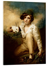 Tableau en verre acrylique  Boy and Rabbit - Henry Raeburn