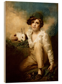 Tableau en bois  Boy and Rabbit - Henry Raeburn