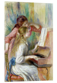 Verre acrylique  Young Girls at the Piano - Pierre-Auguste Renoir