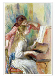 Poster  Young Girls at the Piano - Pierre-Auguste Renoir