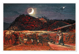 Poster  Cornfield by Moonlight - Samuel Palmer