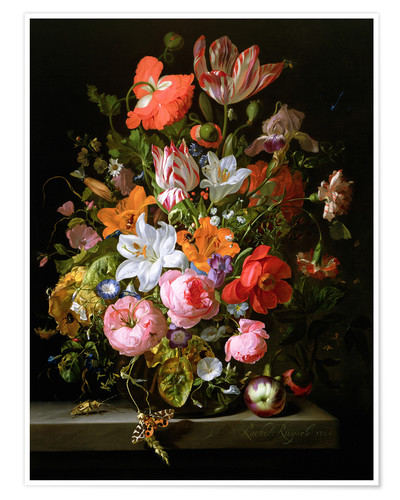 Poster Nature morte aux roses