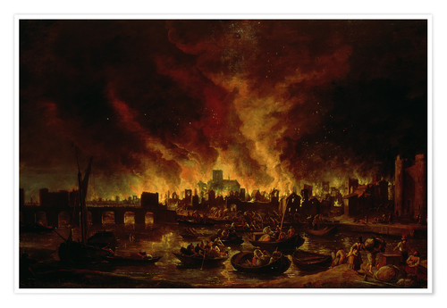Poster The Great Fire of London in 1666