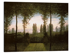 Tableau en aluminium  Remembrance of Johann Bremen - Caspar David Friedrich