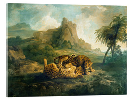 Tableau en verre acrylique  Leopards at Play - George Stubbs