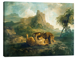 Tableau sur toile  Leopards at Play - George Stubbs