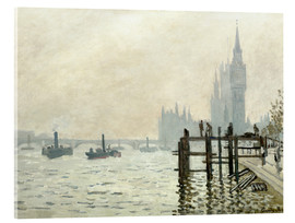 Verre acrylique  The Thames below Westminster - Claude Monet