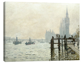 Toile  The Thames below Westminster - Claude Monet